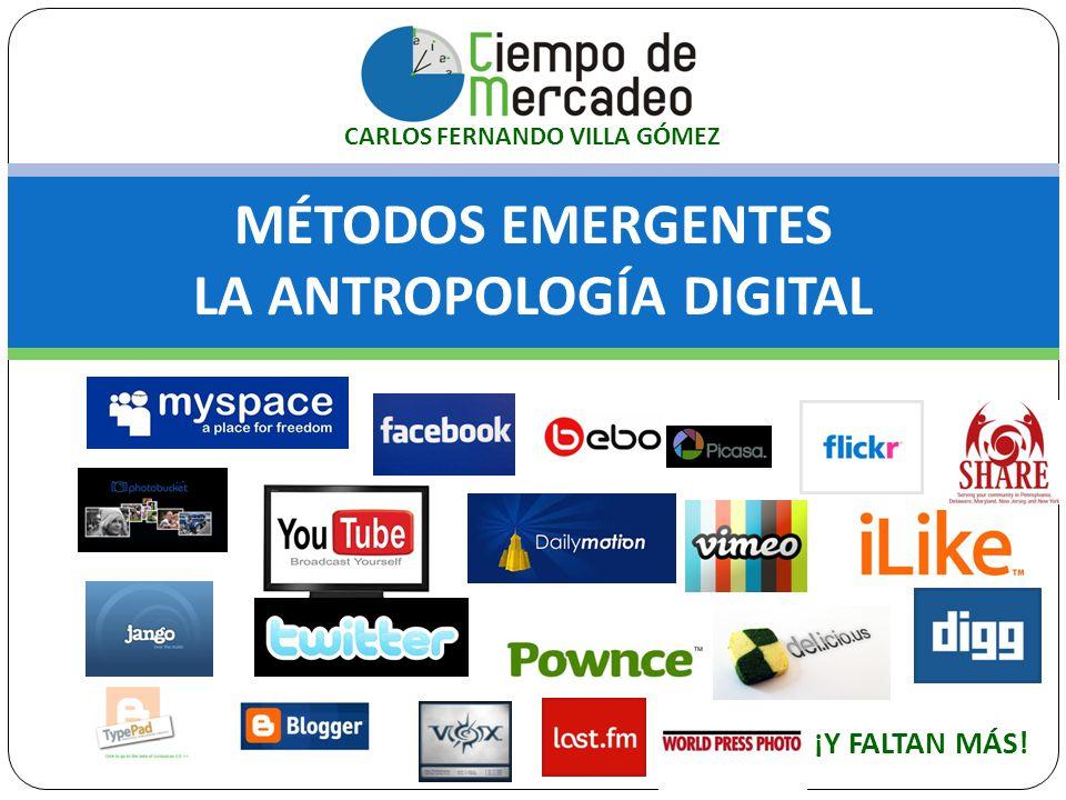 MÉTODOS EMERGENTES LA ANTROPOLOGÍA DIGITAL