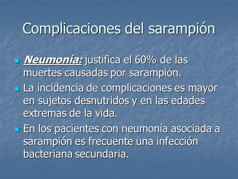 Complicaciones del sarampión