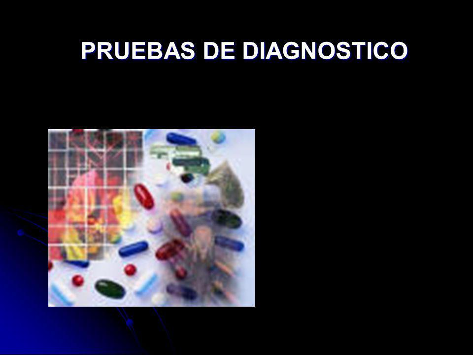 PRUEBAS DE DIAGNOSTICO