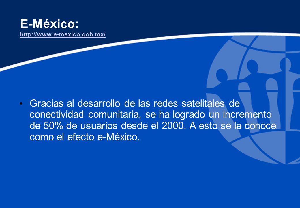 E-México: http://www.e-mexico.gob.mx/