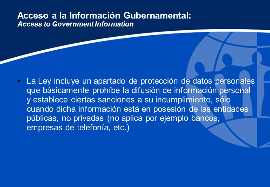 Acceso a la Información Gubernamental: Access to Government Information
