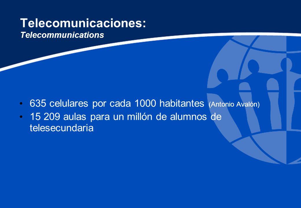 Telecomunicaciones: Telecommunications
