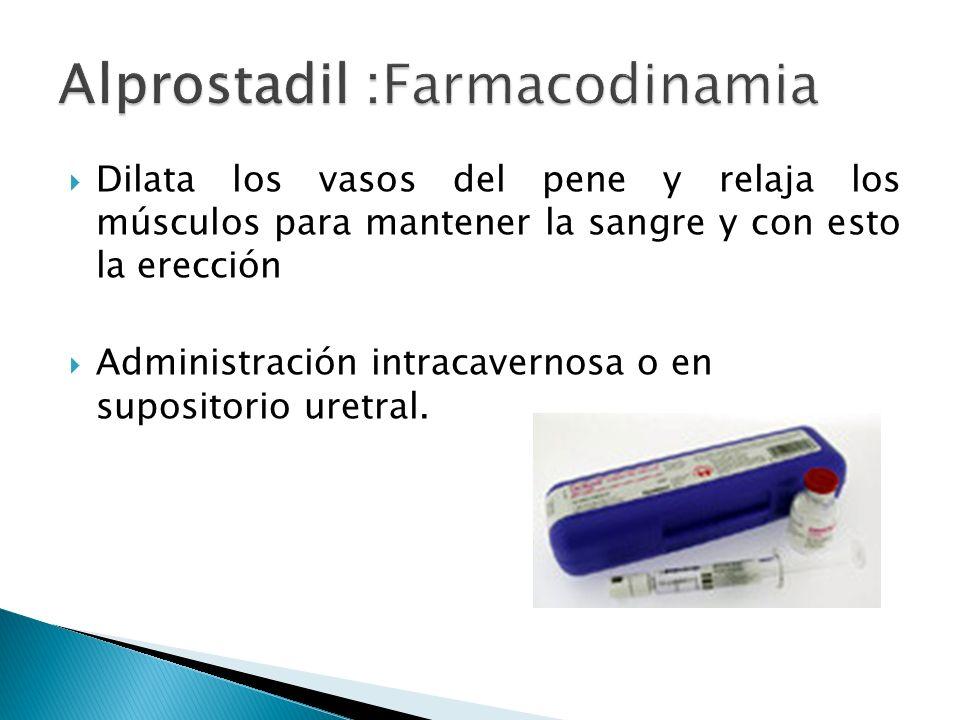 Alprostadil :Farmacodinamia