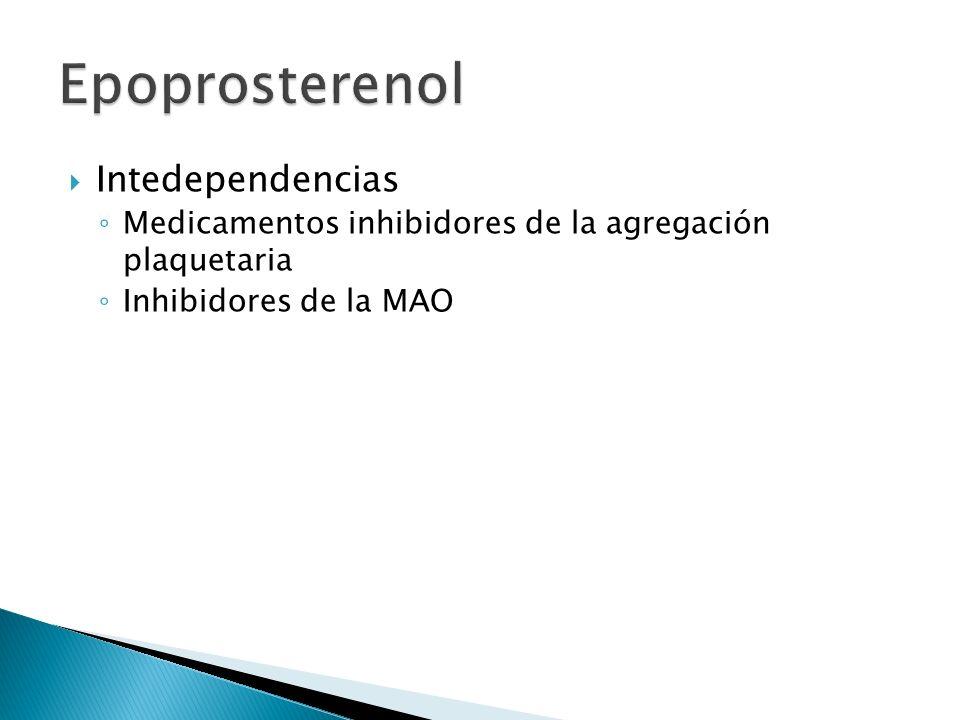 Epoprosterenol Intedependencias