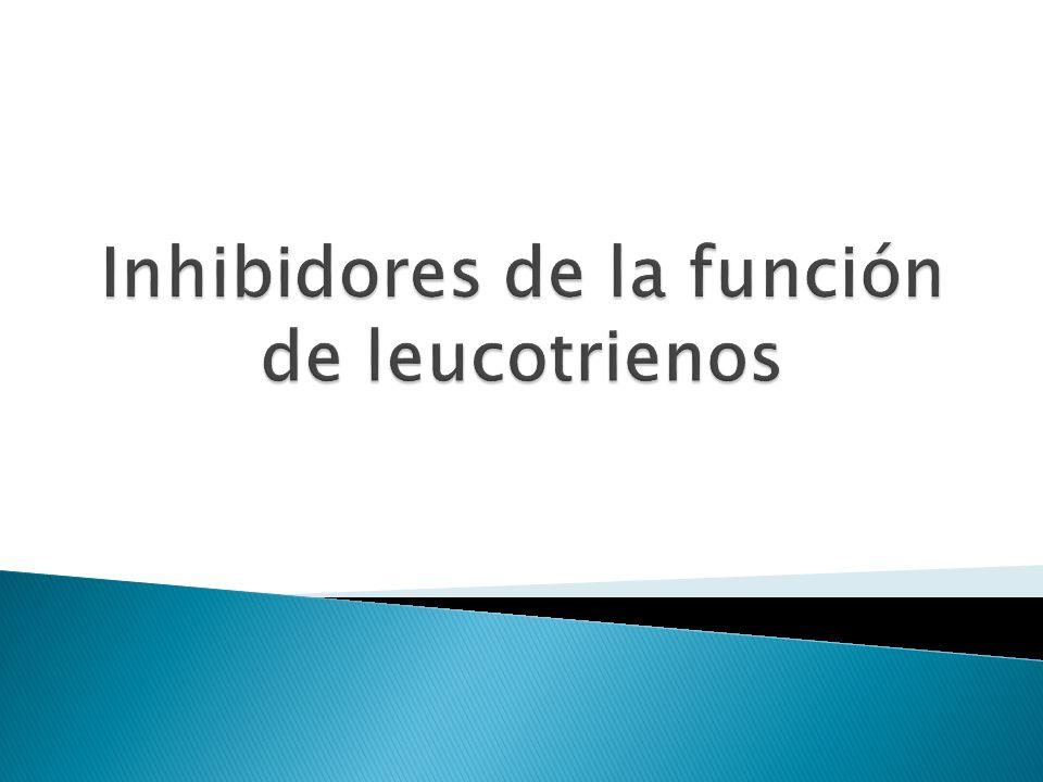Inhibidores de la función de leucotrienos