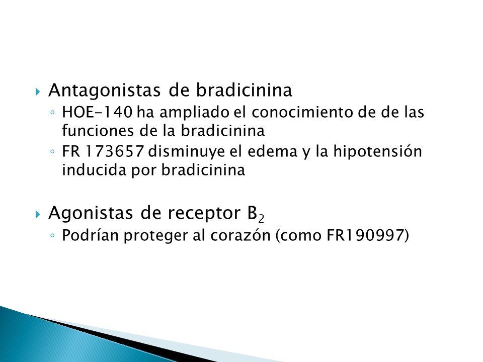 Antagonistas de bradicinina