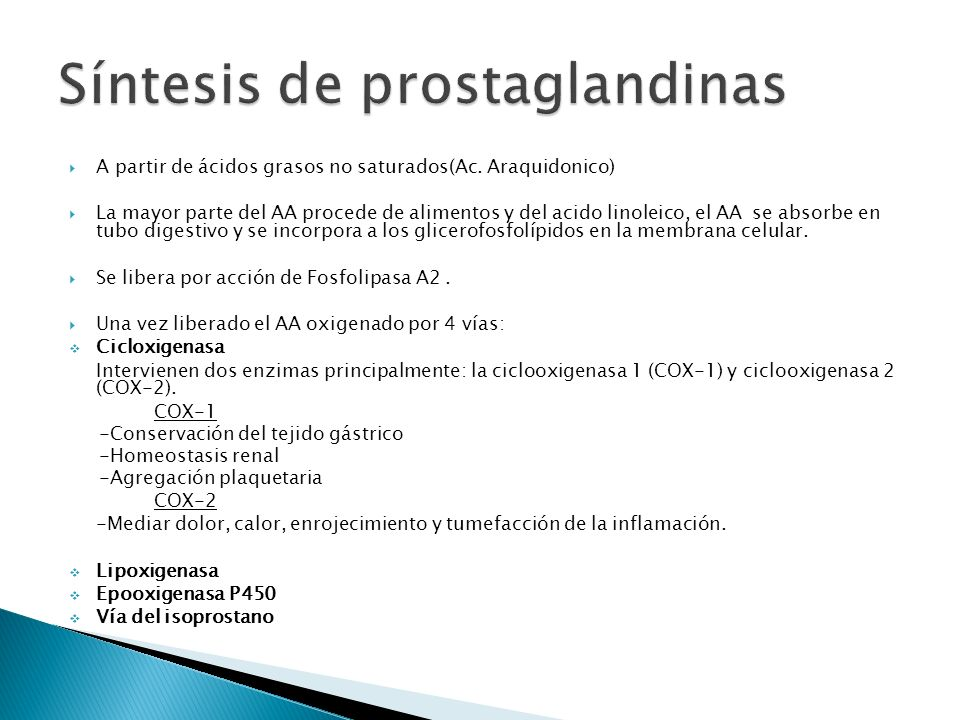 Síntesis de prostaglandinas