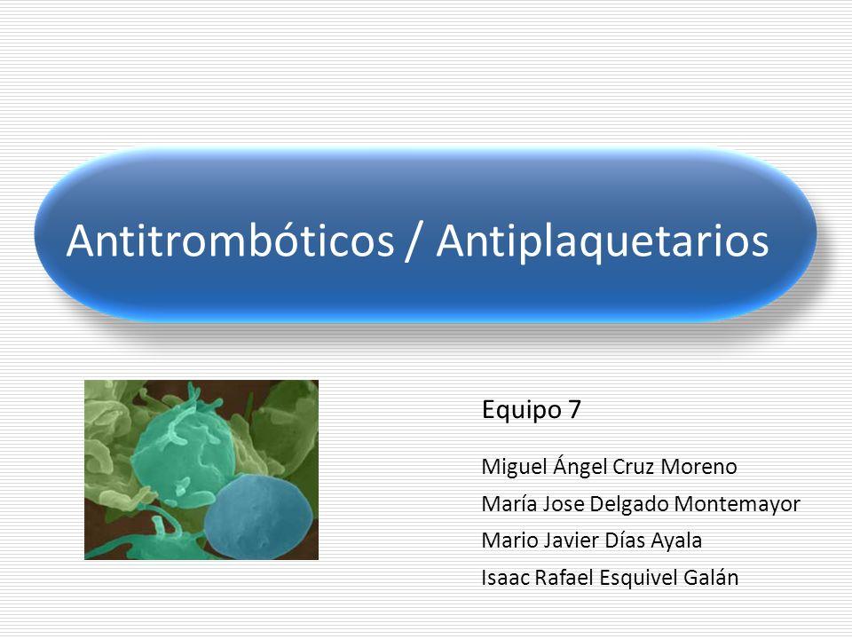 Antitrombóticos / Antiplaquetarios