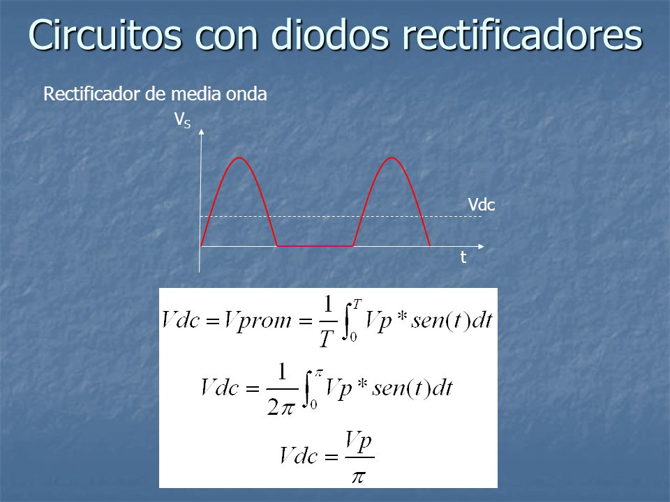 Circuitos con diodos rectificadores