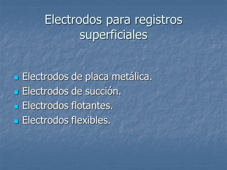 Electrodos para registros superficiales