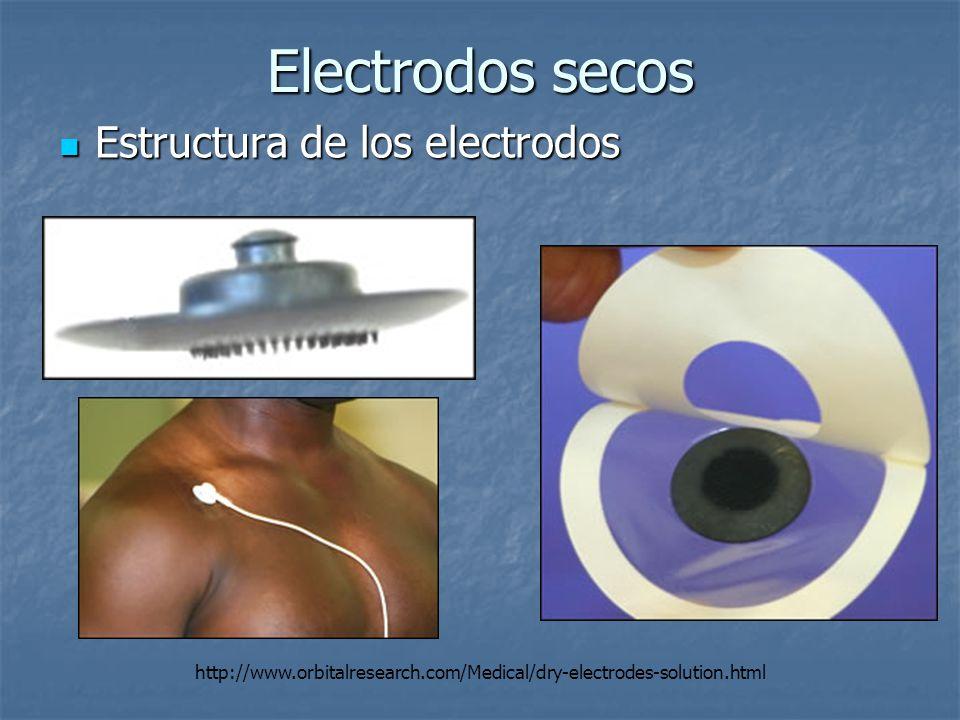 Electrodos secos Estructura de los electrodos