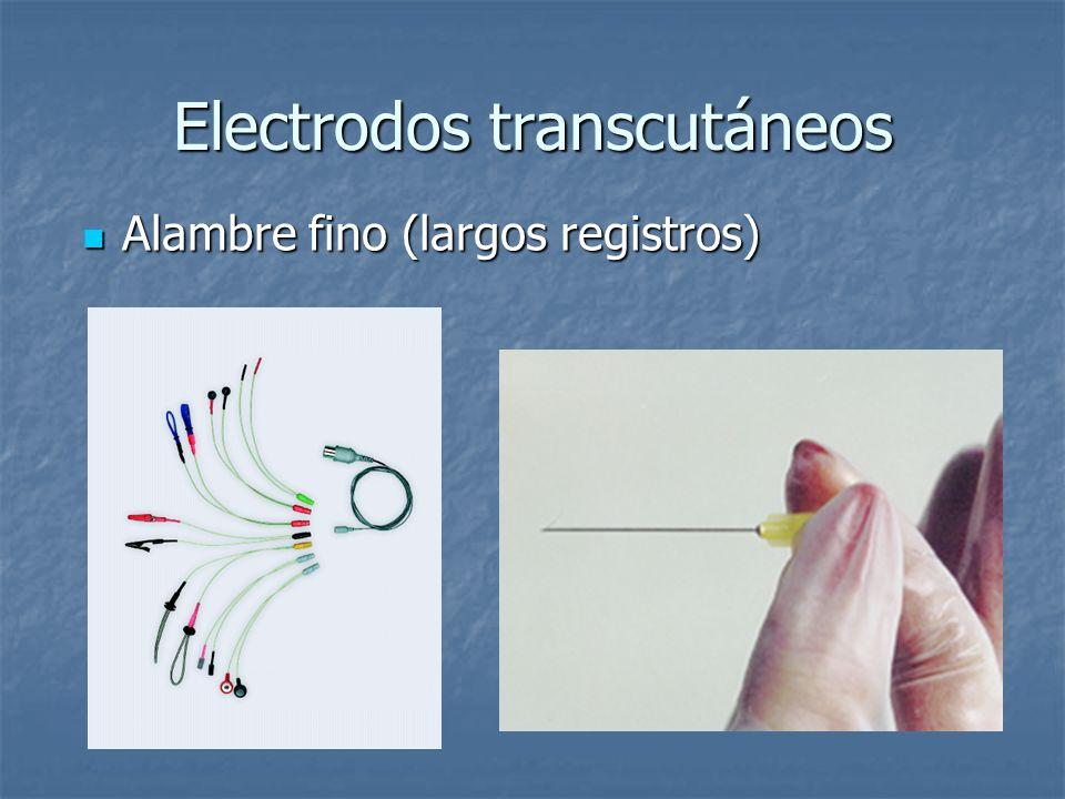 Electrodos transcutáneos
