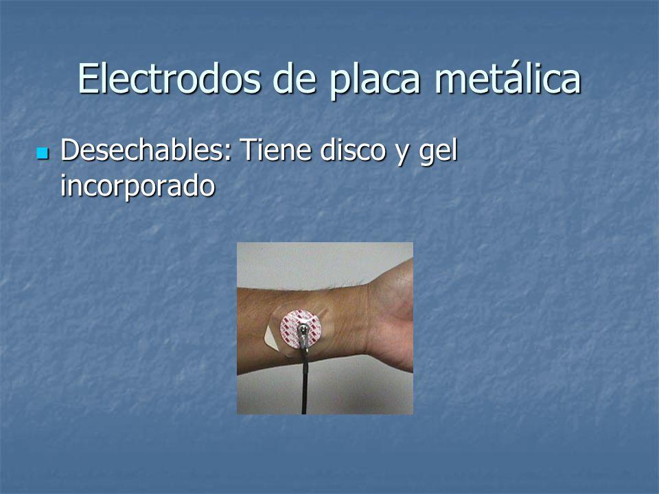 Electrodos de placa metálica