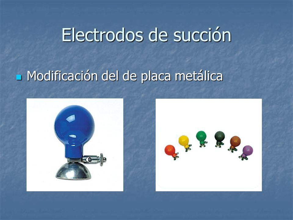 Electrodos de succión Modificación del de placa metálica