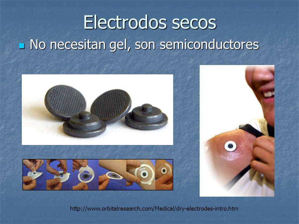 Electrodos secos No necesitan gel, son semiconductores