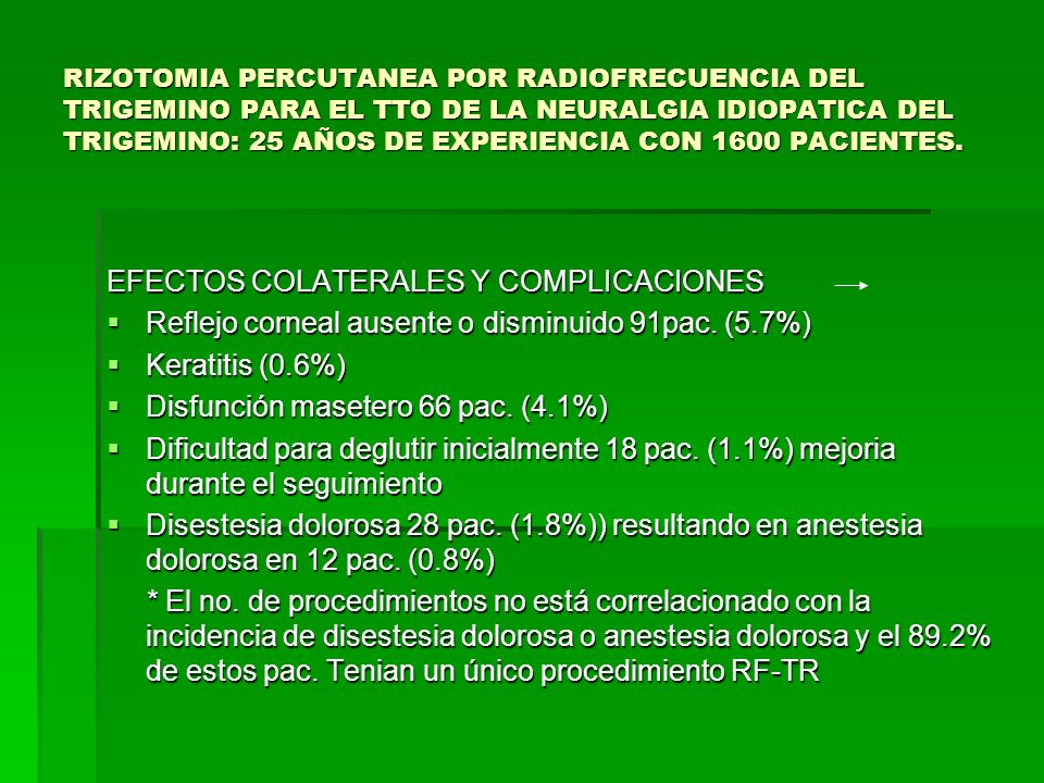 EFECTOS COLATERALES Y COMPLICACIONES