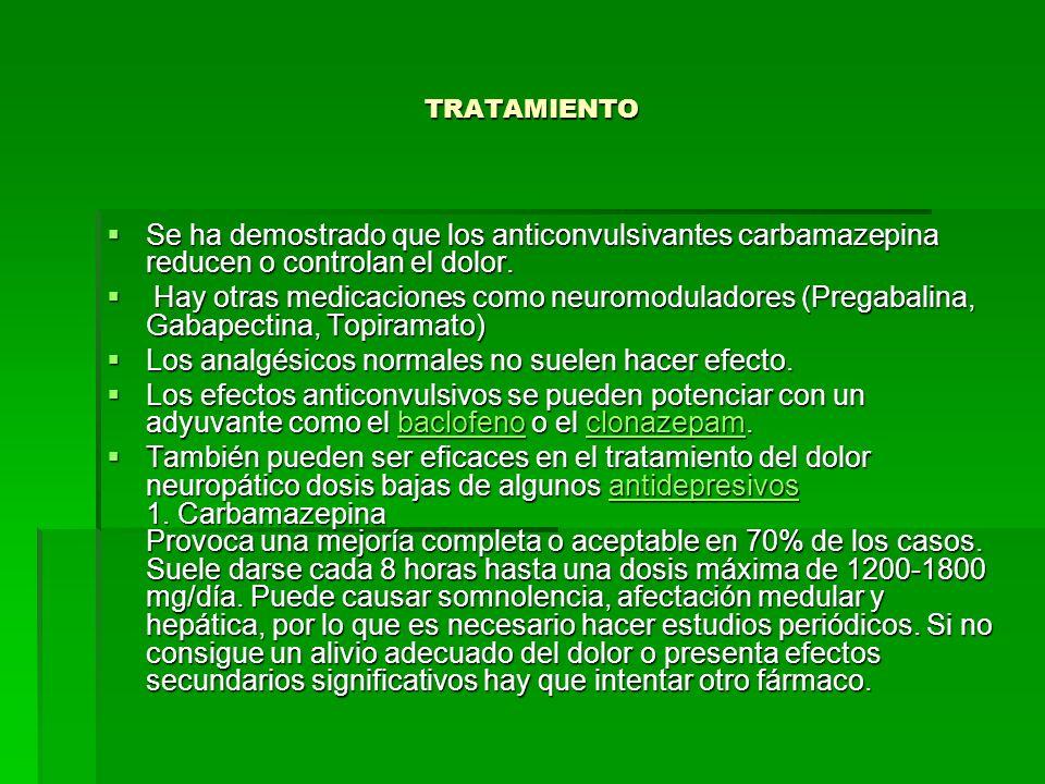 Los analgésicos normales no suelen hacer efecto.