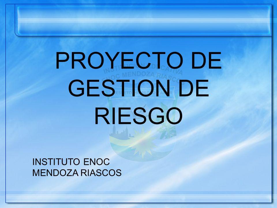 PROYECTO DE GESTION DE RIESGO