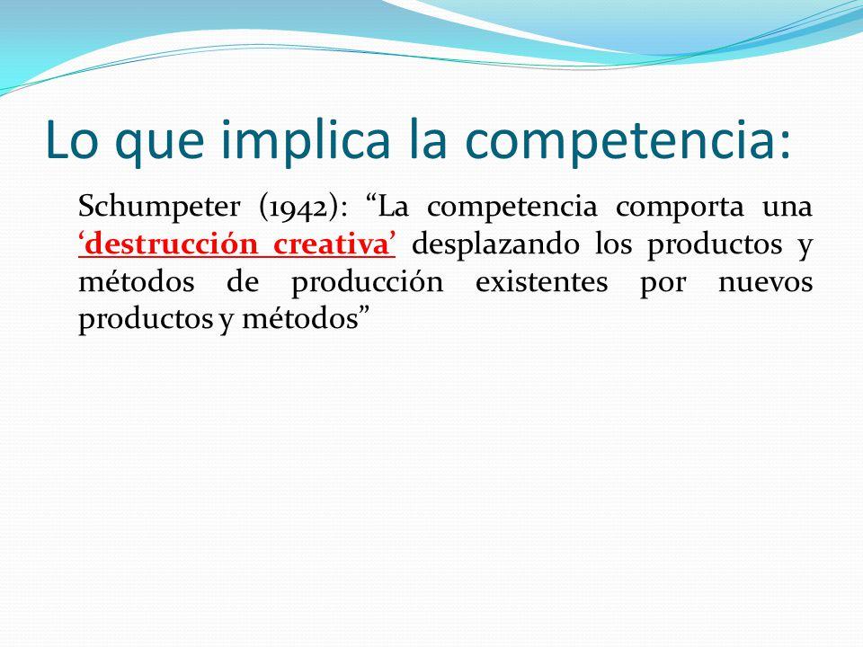 Lo que implica la competencia: