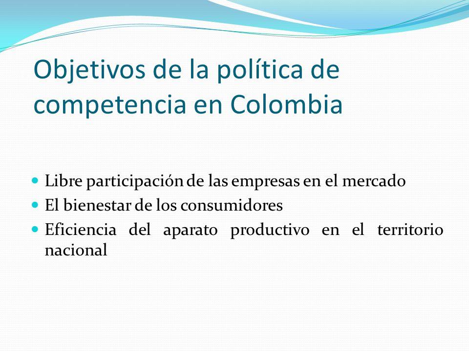 Objetivos de la política de competencia en Colombia