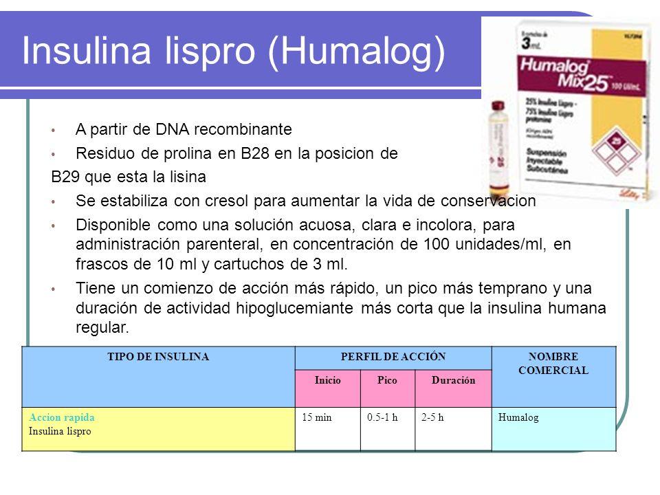 Insulina lispro (Humalog)