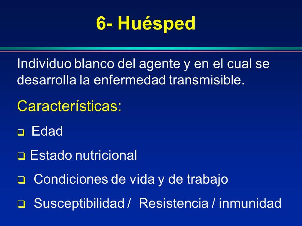 6- Huésped Características: