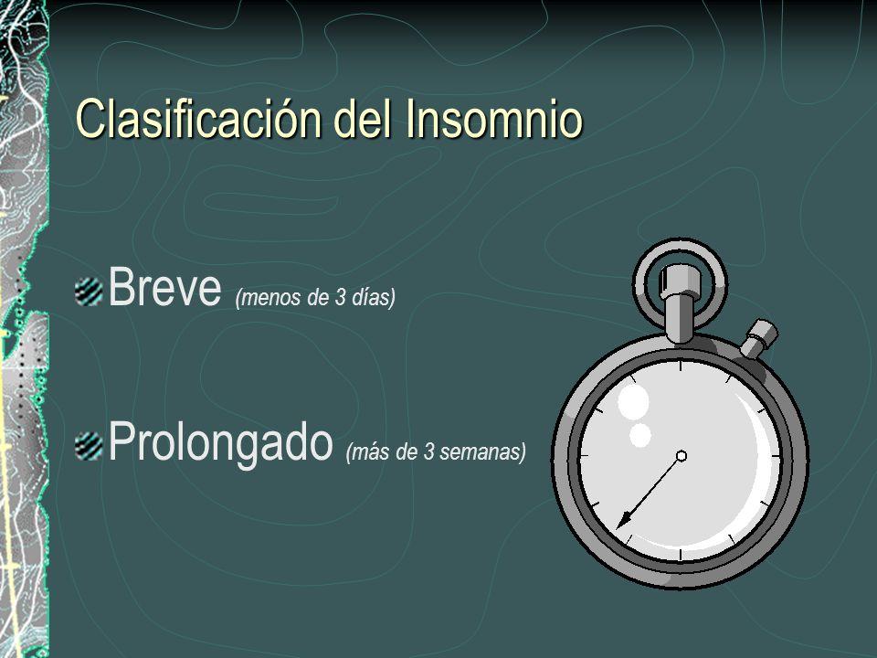 Clasificación del Insomnio