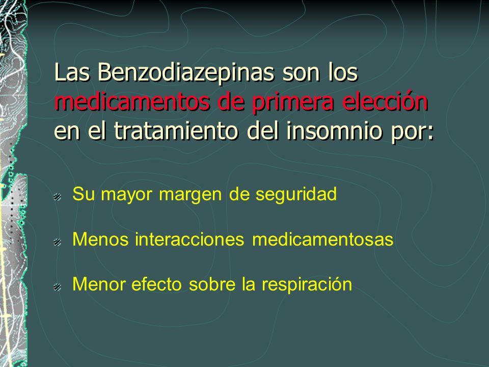 Las Benzodiazepinas son los medicamentos de primera elección en el tratamiento del insomnio por: