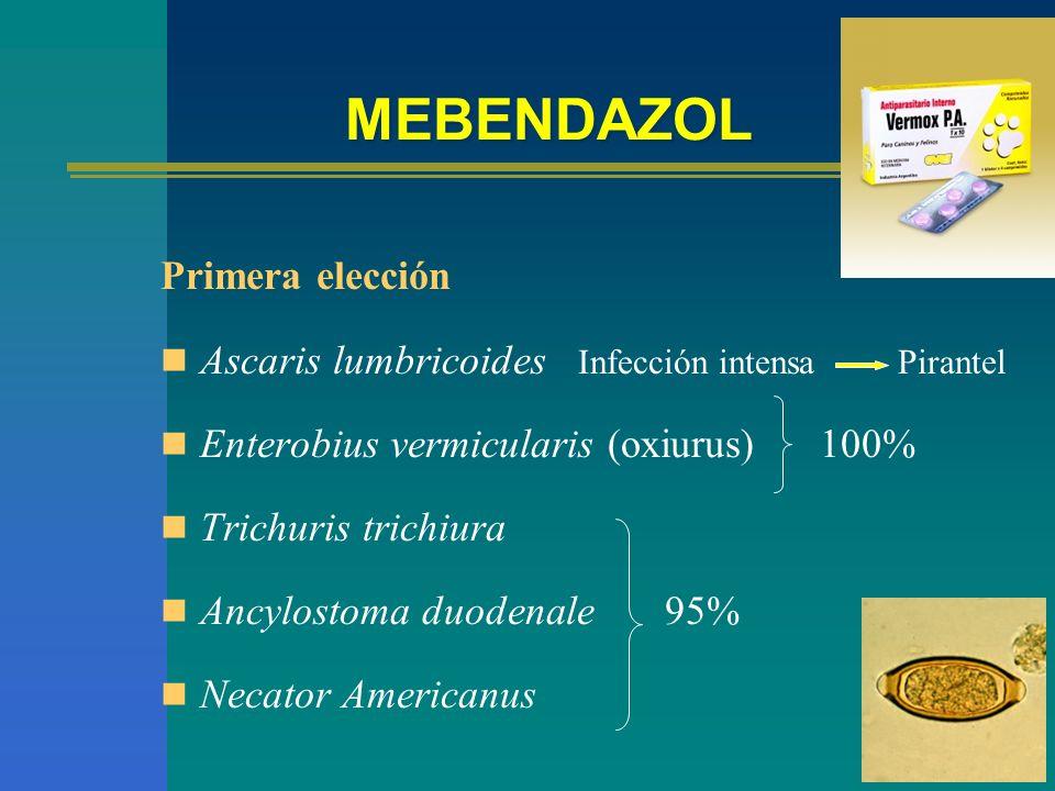MEBENDAZOL Primera elección