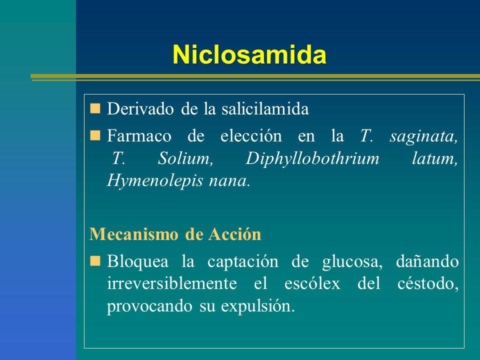 Niclosamida Derivado de la salicilamida