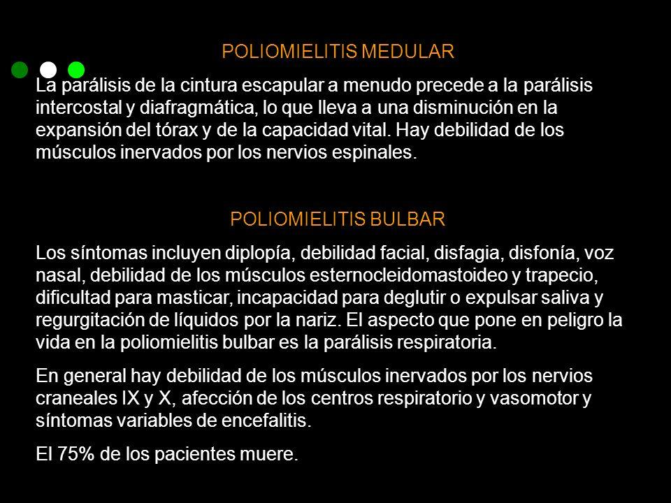 POLIOMIELITIS MEDULAR