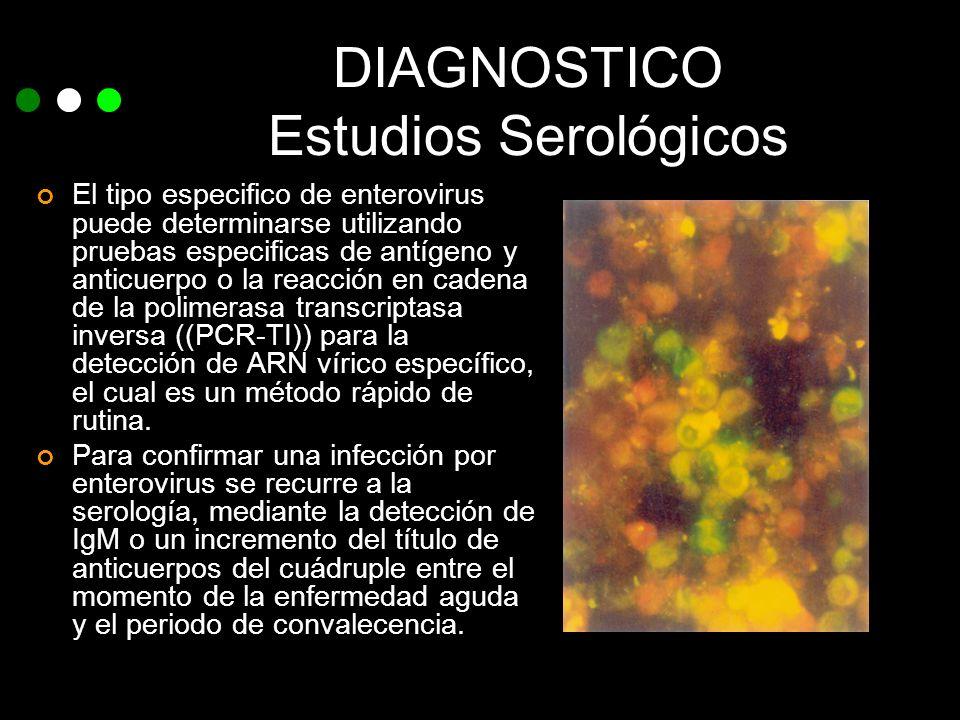 DIAGNOSTICO Estudios Serológicos