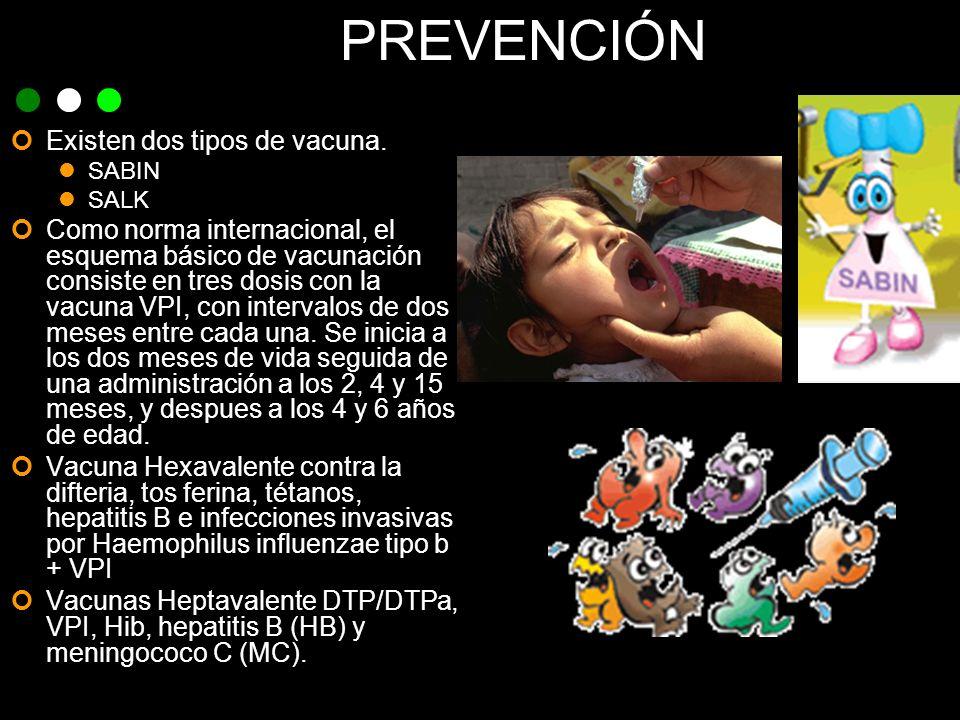 PREVENCIÓN Existen dos tipos de vacuna.