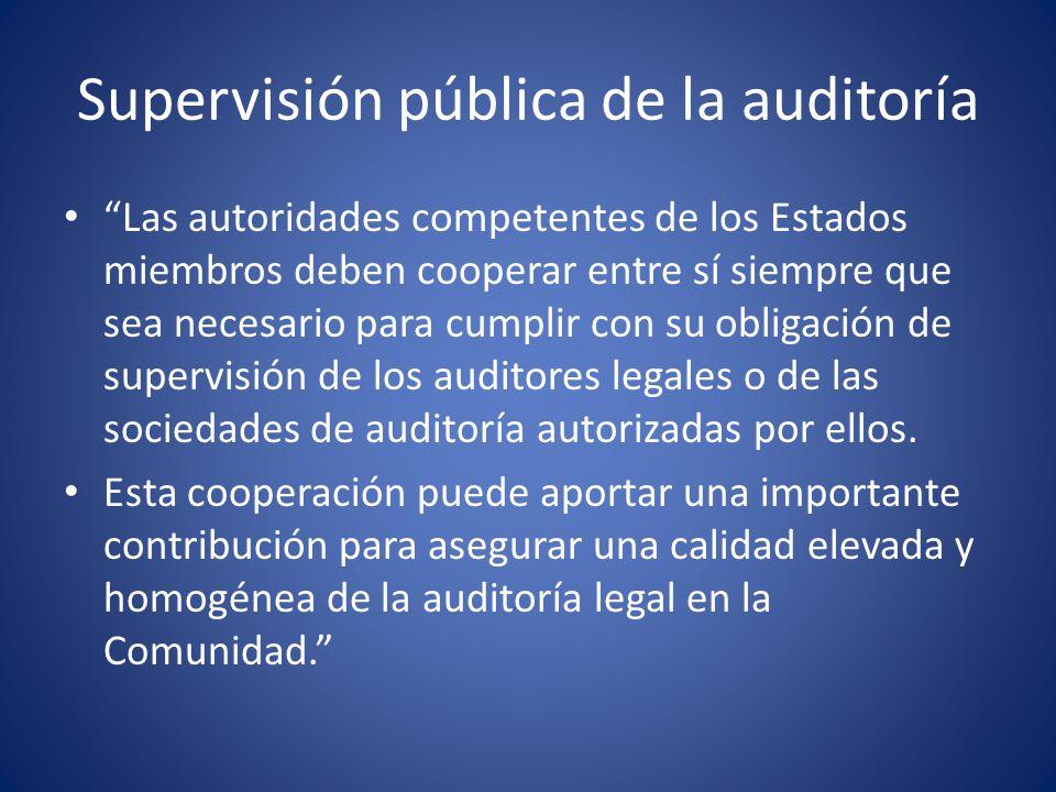 Supervisión pública de la auditoría