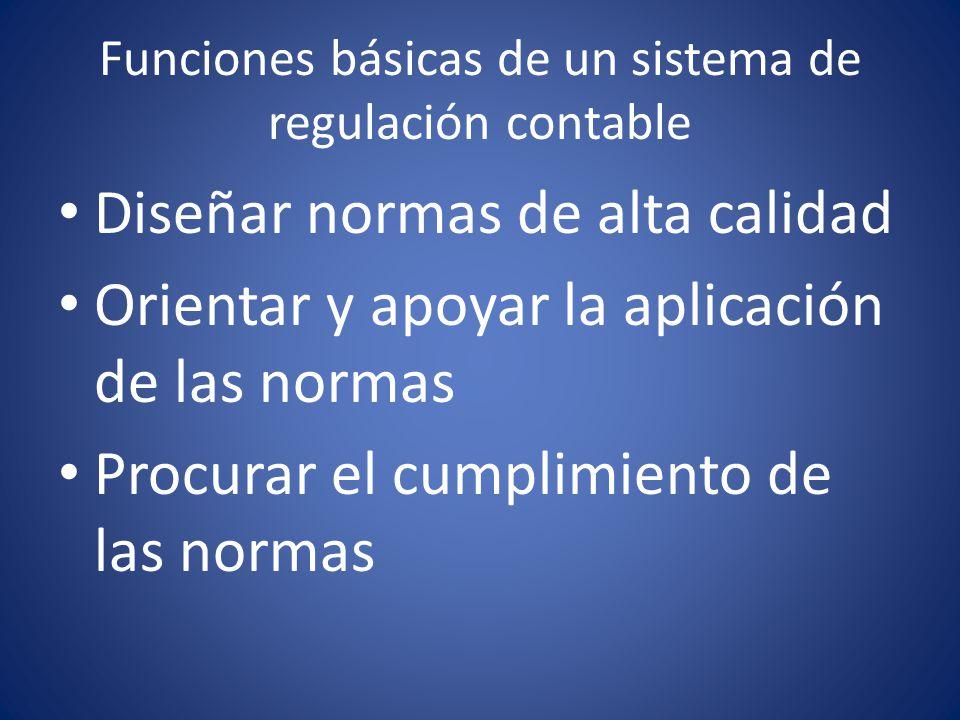 Funciones básicas de un sistema de regulación contable