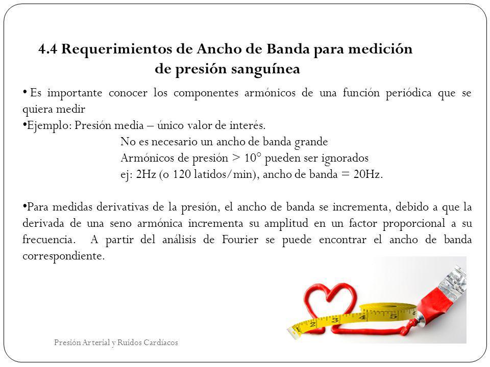4.4 Requerimientos de Ancho de Banda para medición