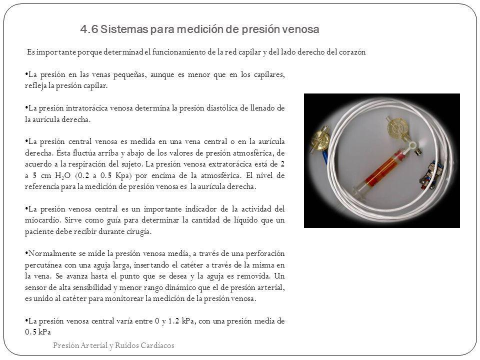 4.6 Sistemas para medición de presión venosa