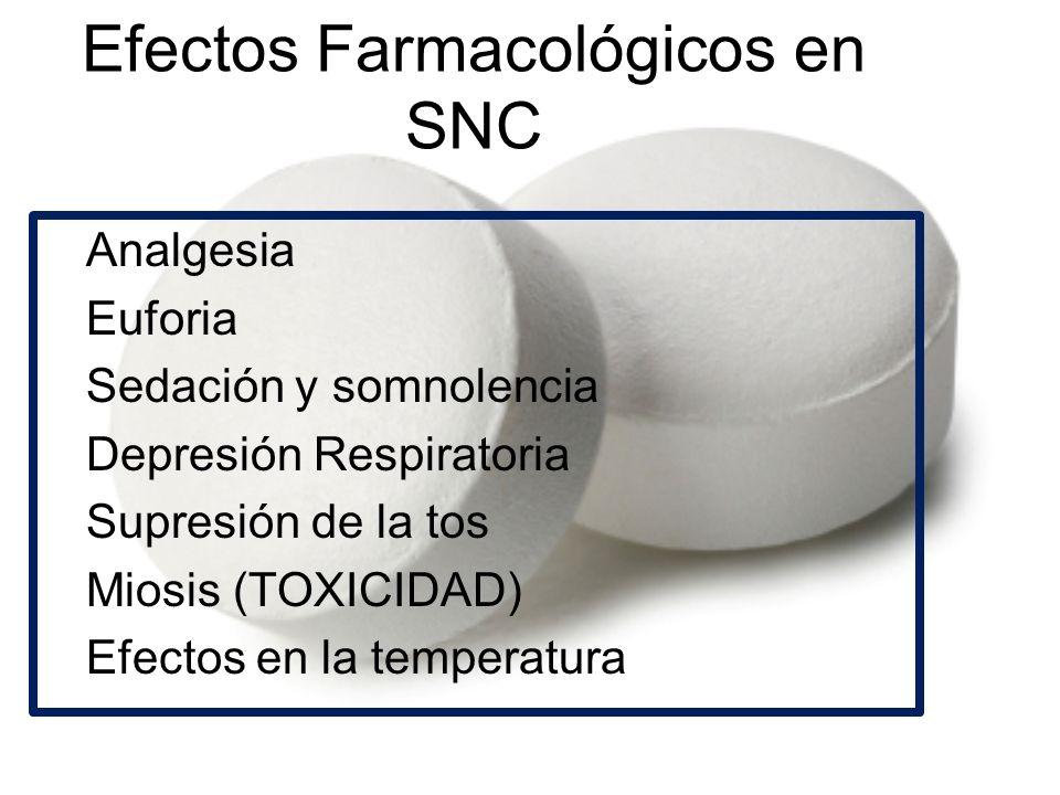 Efectos Farmacológicos en SNC