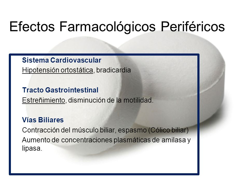 Efectos Farmacológicos Periféricos