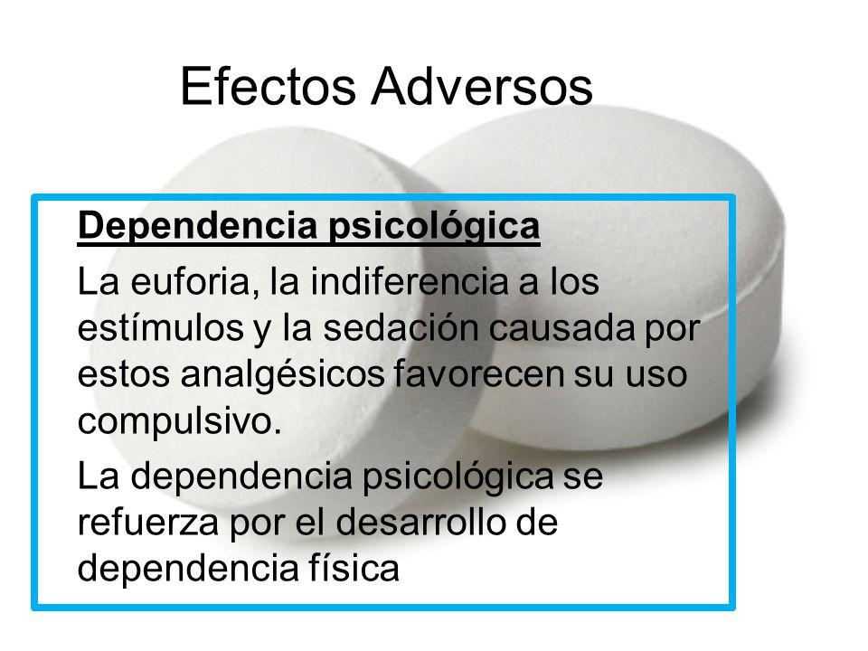 Efectos Adversos Dependencia psicológica
