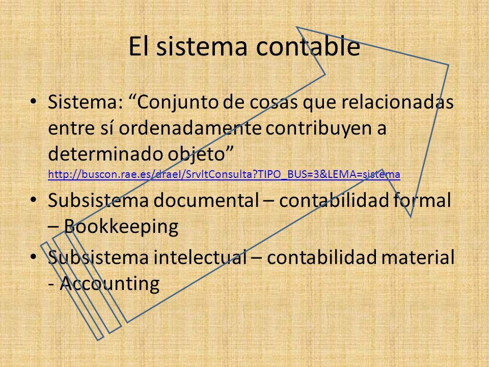 El sistema contable