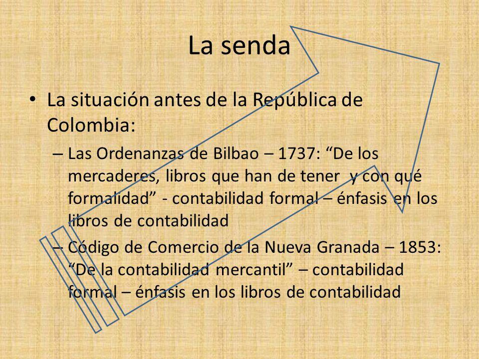 La senda La situación antes de la República de Colombia: