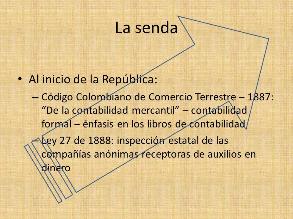 La senda Al inicio de la República: