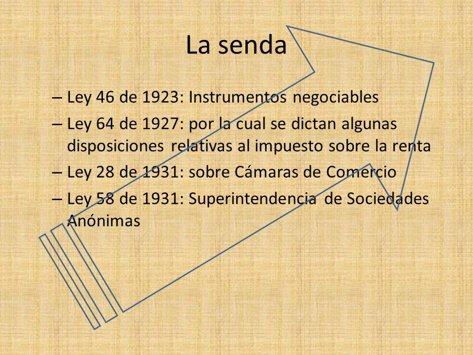 La senda Ley 46 de 1923: Instrumentos negociables