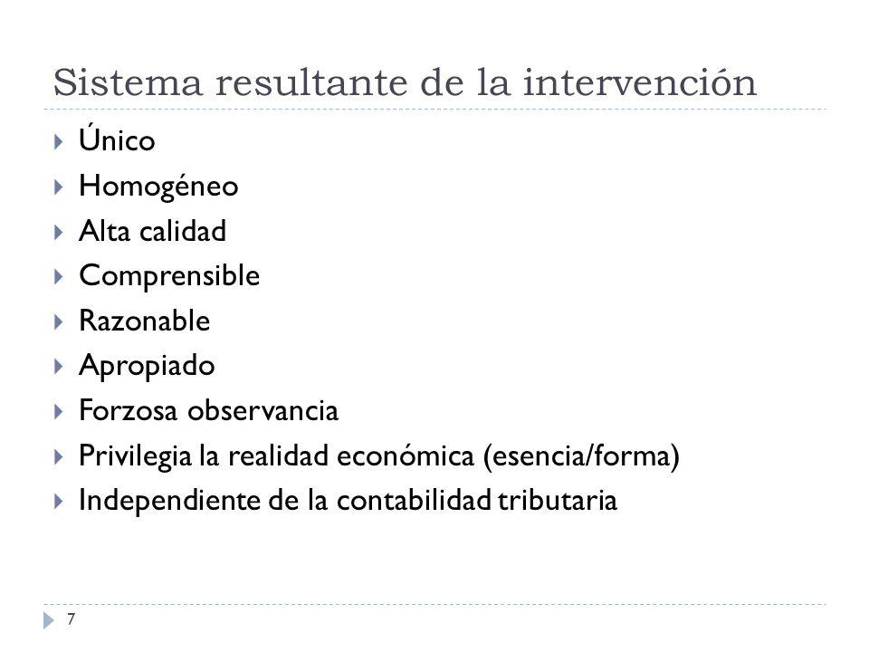 Sistema resultante de la intervención