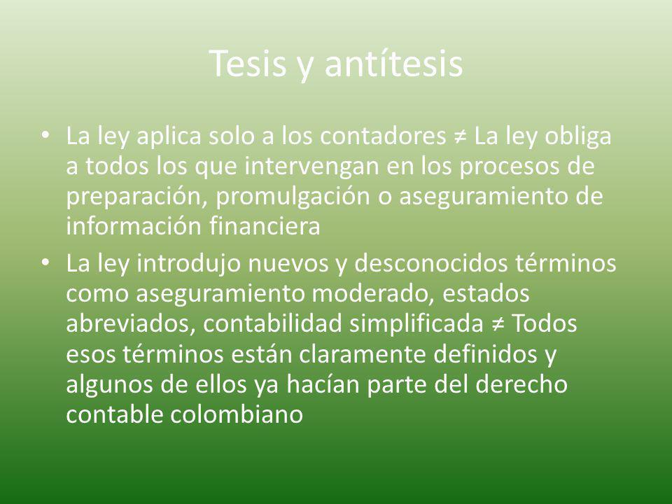 Tesis y antítesis