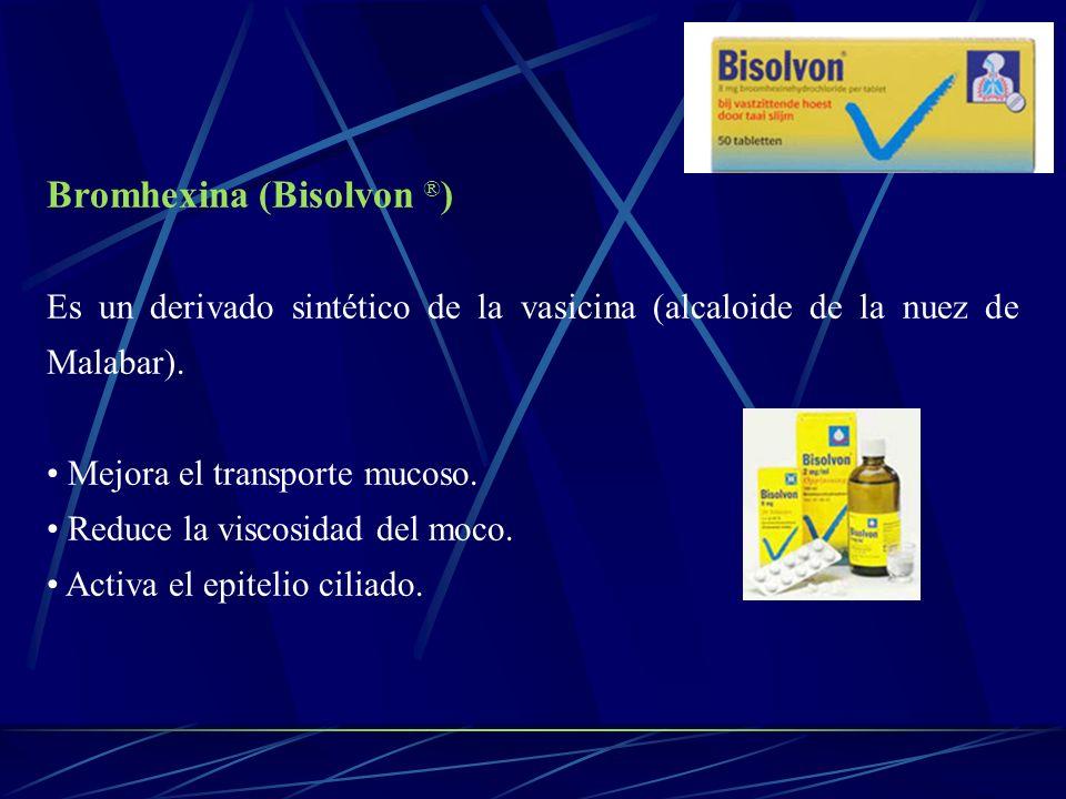 Bromhexina (Bisolvon ®)