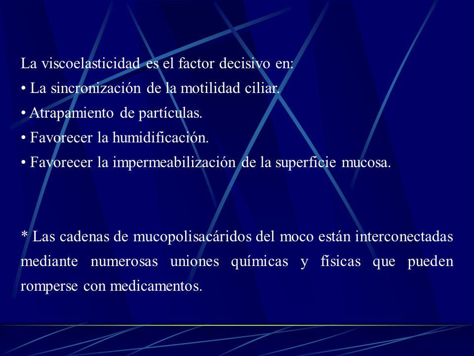 La viscoelasticidad es el factor decisivo en: