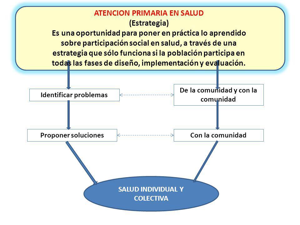 ATENCION PRIMARIA EN SALUD (Estrategia)