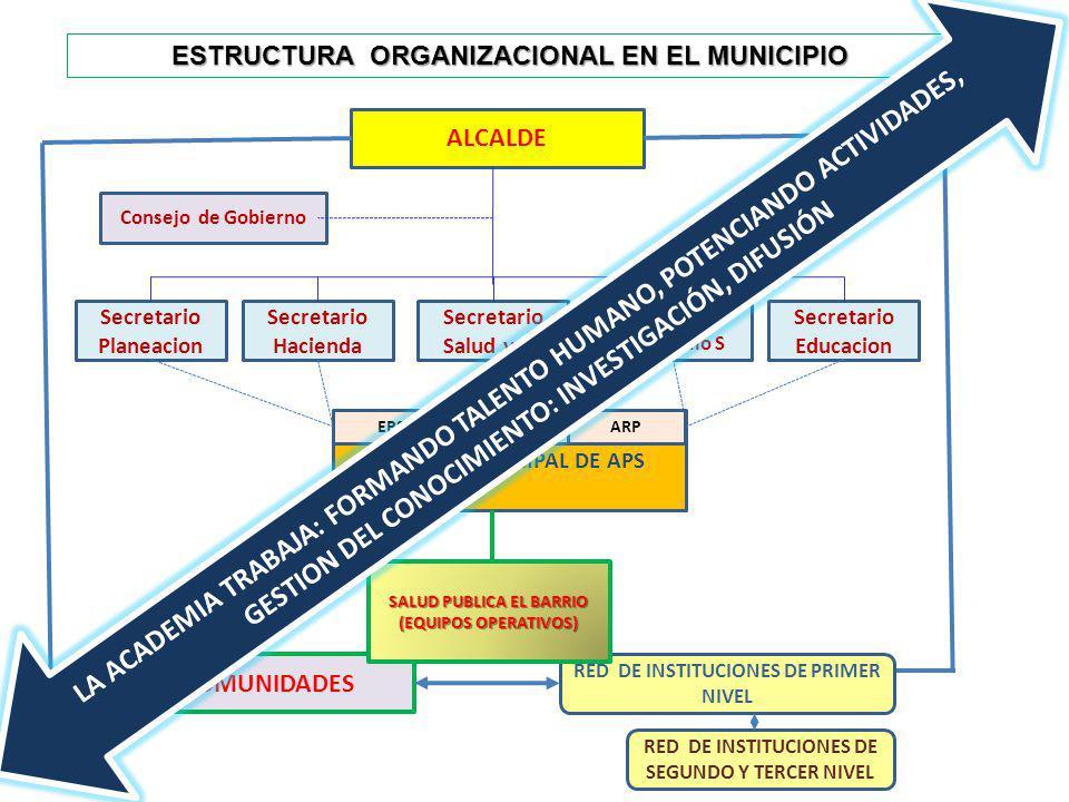 ESTRUCTURA ORGANIZACIONAL EN EL MUNICIPIO